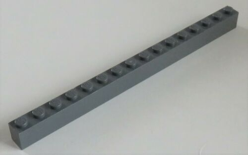dunkel blaugrau # 2465 Stein Brick 1 x 16 LEGO