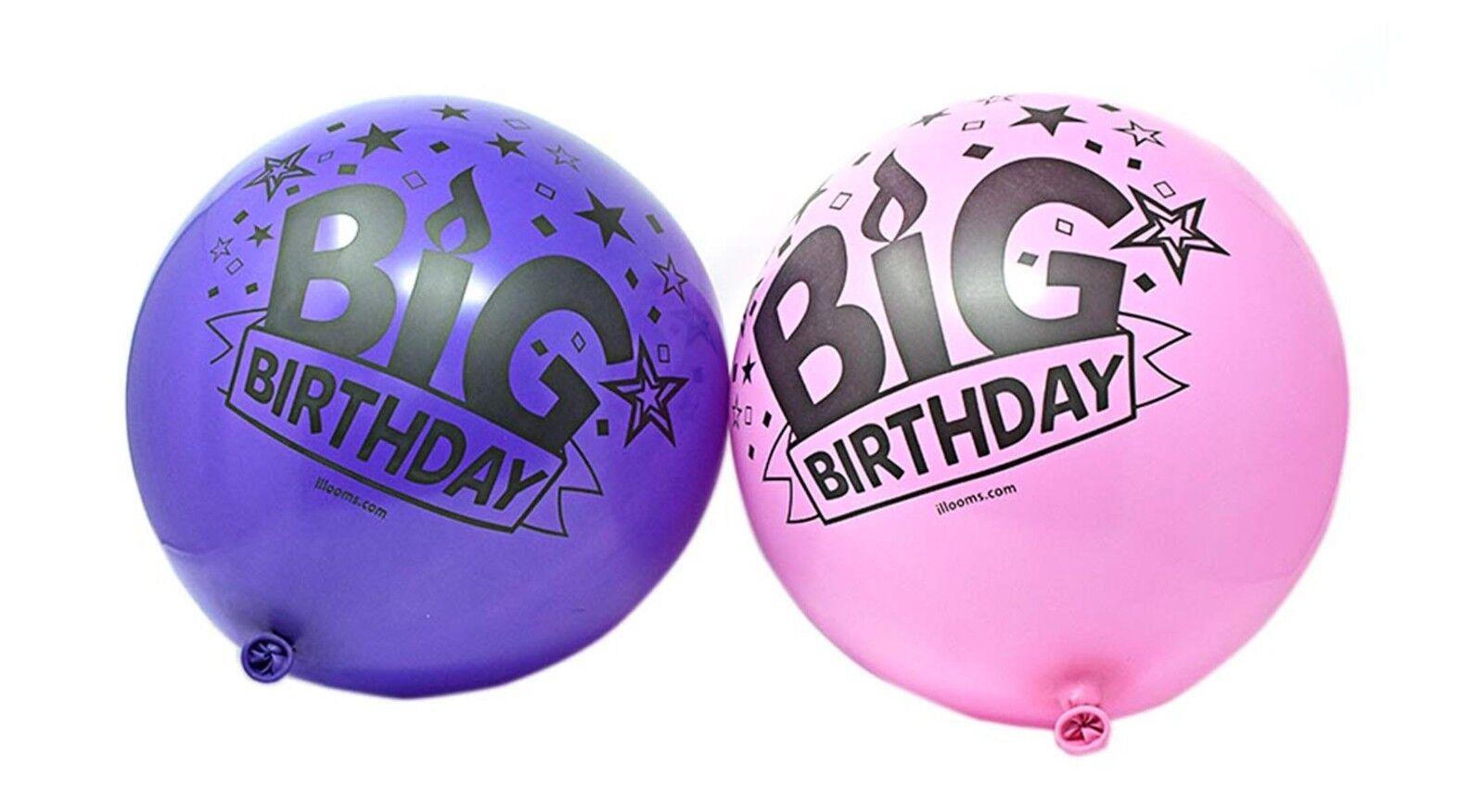NEUF Paquet de 50 illoom surdimensionnée Grand anniversaire 61cm Ballons rose et