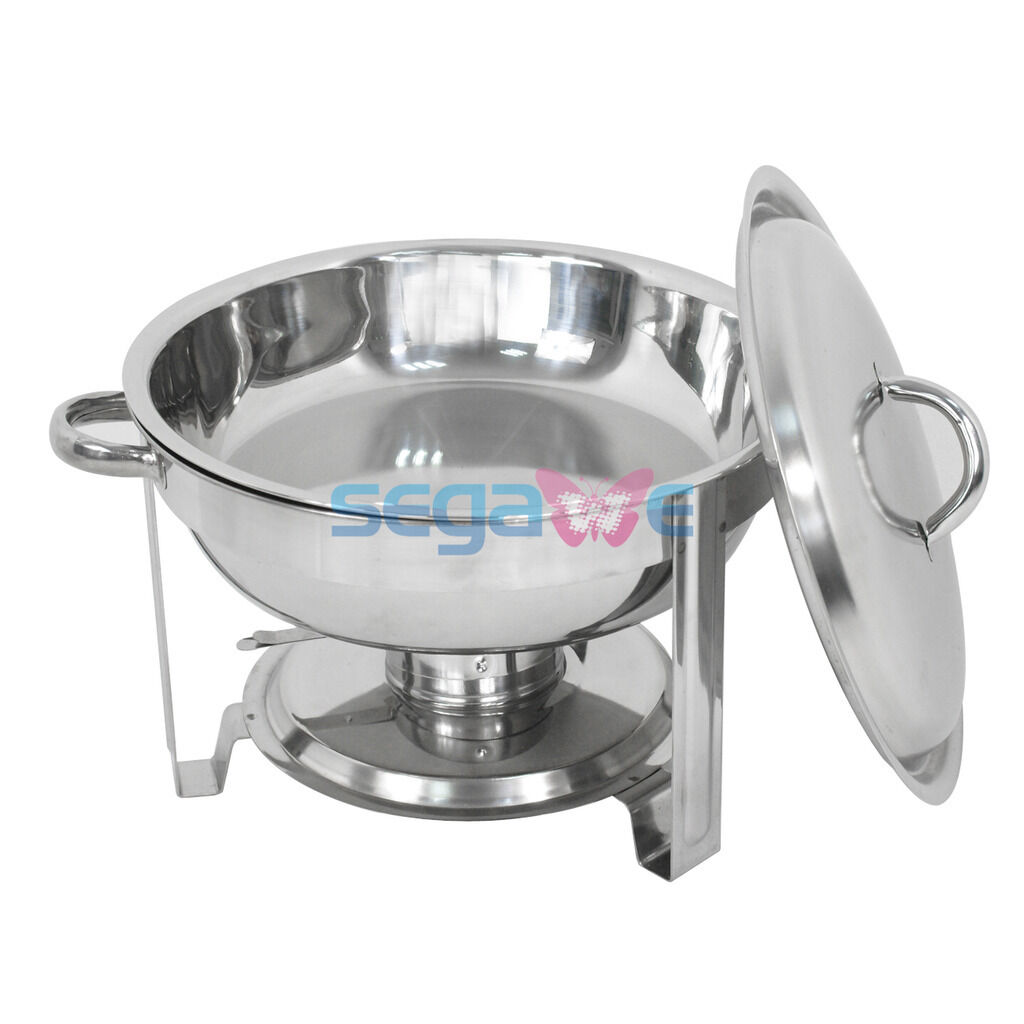 3 PACK CATERING STAINLESS STEEL CHAFER CHAFING DISH SETS 5 QT PARTY PACK Business & Industrial