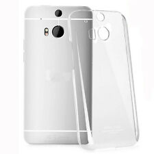 Clear Transparent Ultra Thin Glossy Back Hard Case Cover Skin For HTC One 2 M8