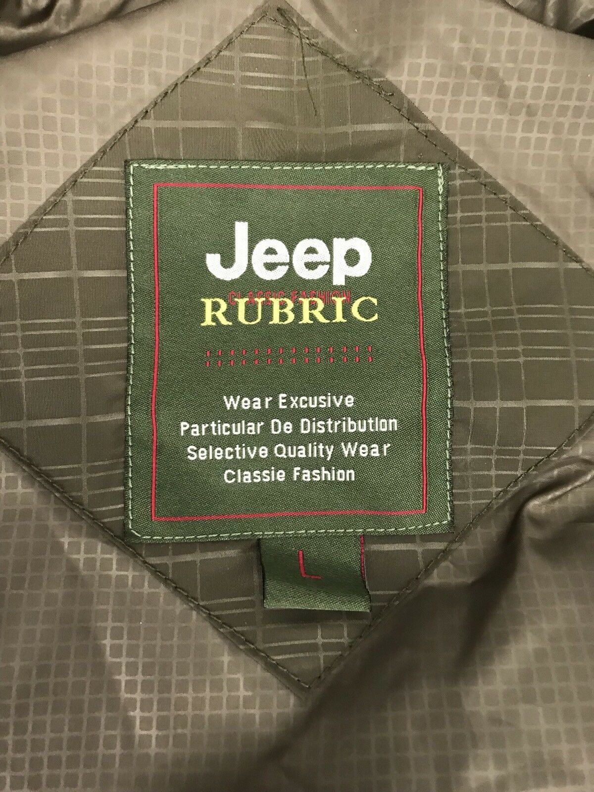Jeep Down Vest Rubric Estab Estab Estab 2011 Ralph Lauren Brown Full Zip Puffy Women's Large d4da0b
