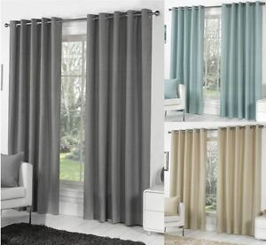 Sorbonne-Plain-Dyed-Heavy-Cotton-Eyelet-Ring-Top-Lined-Curtains-Various-Colours