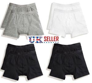 5-Boxer-Da-Uomo-Classic-Slip-Hipster-Shorts-da-lavoro-cotone-lycra-Fit-Soft-BAULI-BXR