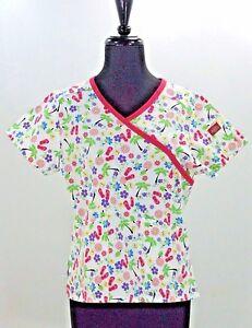 5e9c7a8030e Womens Dickies Scrub Crop Top Summer Print NWT XS Mock Wrap Flip ...