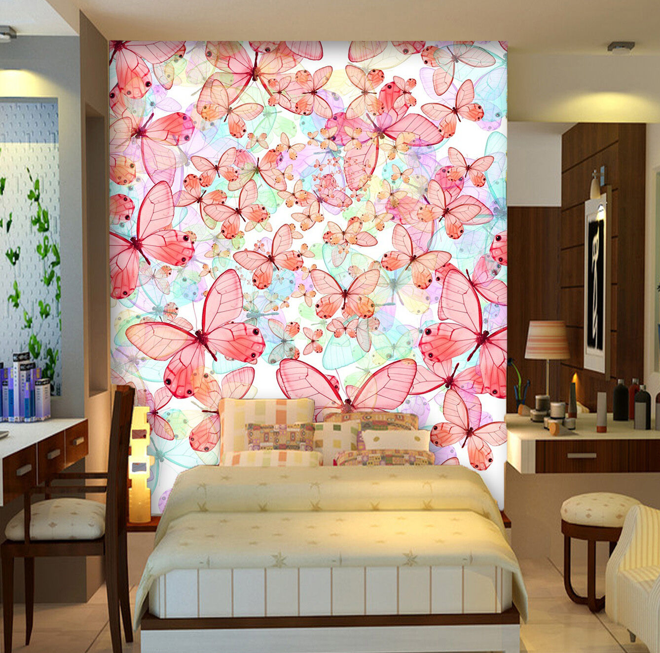 3D Butterfly Pattern 11 WallPaper Murals Wall Print Decal Wall Deco AJ WALLPAPER