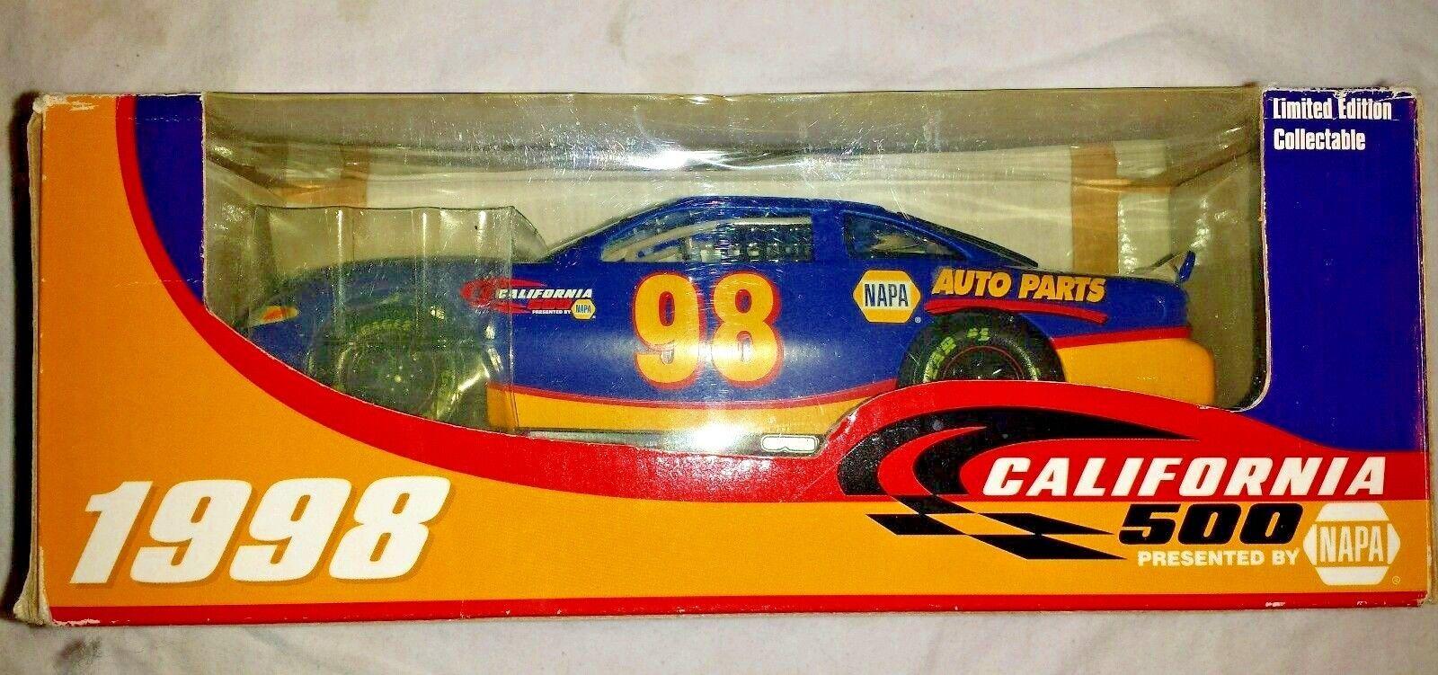 Nascar 50th Anniversary Diecast 1998 NIB, Race Car Cali500  1 24  CA500CAR98