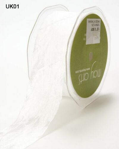LL SEUK-M May Arts Silky Crush Polyester Ribbon per 2 metres