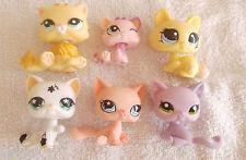 Littlest Pet shop LPS LOT SHORT HAIR CAT ,TABBY CAT ,rare lot OF 6 PCS 517A