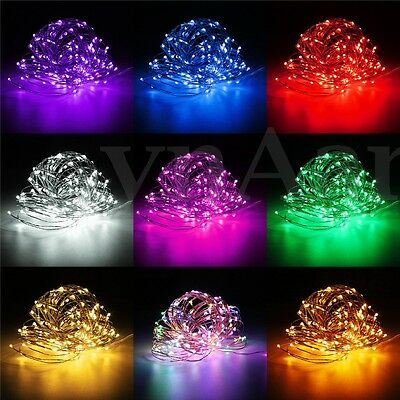 Micro Christmas Lights.100 200 Led Micro Copper Wire Fairy String Lights Xmas Party Battery Solar Plug Ebay