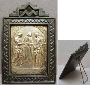 Petit cadre avec plaque en metal argenté mulieris bonae beatus vir iNyC3BtI-07210443-875998860