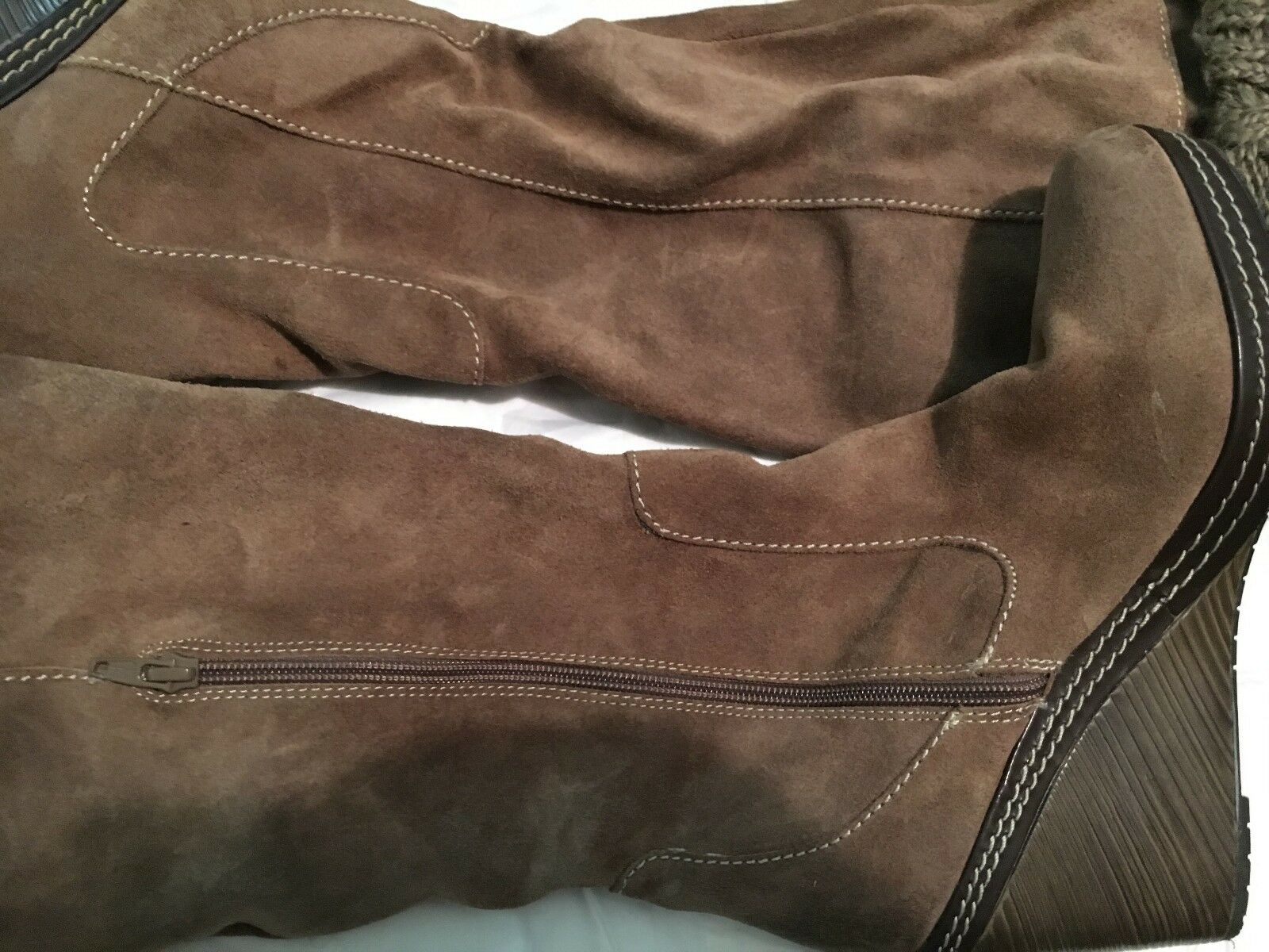 Dr Scholl's Suede Wool Knit Knee High Damens Wedge Stiefel Größe 11