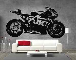 Moto-GP-Suzuki-Motorbike-Vinyl-Sticker-Wall-Art-Boys-Bedroom-Garage-Play-Room