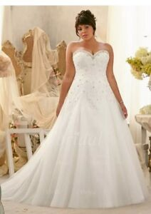 Image Is Loading New Plus Size White Ivory Strapless A Line