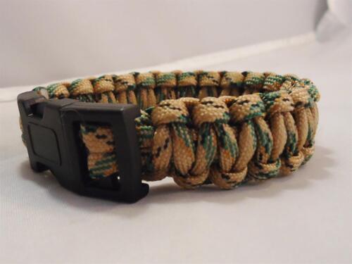 MULTICAM Camo Paracord Survival Bracelet hiking fishing bushcraft wristband camp