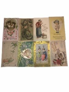 1900-s-Antique-Post-Cards-With-Stamps-Lot