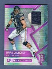 BRIAN URLACHER 2016 SPECTRA PINK EPIC 2 COLOR PATCH SP # 5 / 5 CHICAGO BEARS