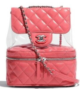 0d1be31c9c5d CHANEL Backpack Pink Chain Bag Rucksack A57824 Y83551 4B888 Auth New ...