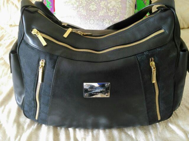 Auth. GIANNI VERSACE COUTURE Runway Handbag blue/black