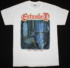 ENTOMBED-LEFT-HAND-PATH-039-90-DEATH-NIHILIST-UNLEASHED-MORGOTH-NEW-WHITE-T-SHIRT