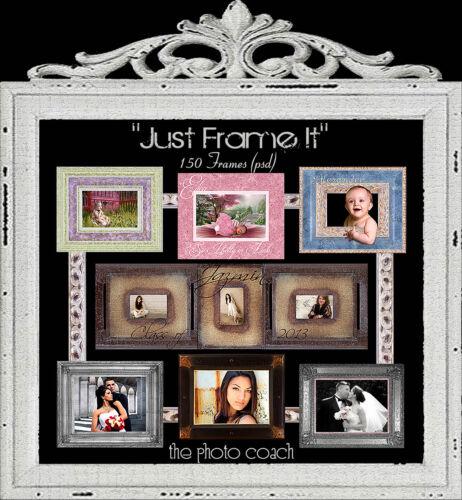 Digital Photo Frames Overlays psd Layered Borders Scrapbook Embelishments R