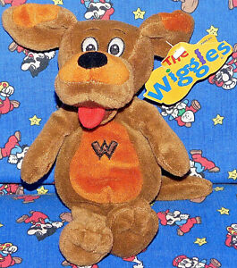 8-034-WAGS-THE-DOG-WIGGLES-BEAN-BAG-PLUSH-STUFFED-ANIMAL-SPIN-MASTER-TOY-New-Tags