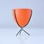 mini-bullet-planter-mid-century-modern-3-034-tall-blue-orange-black-or-white Indexbild 1