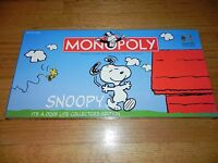 Usaopoly Snoopy It's A Dog's Life Collector's Edition Monopoly Sealed