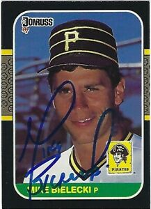 Autographed/Signed 1987 Donruss #415-Mike Bielecki Pittsburgh Pirates