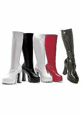 5 Inch Heel Stretch Knee Boots Women'S Size shoes With Inner Zipper