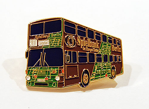 ★ BVG//BVB Bus Berlin MAN SD200 Doppeldecker Spielbank Reklame Pin Anstecknadel ★