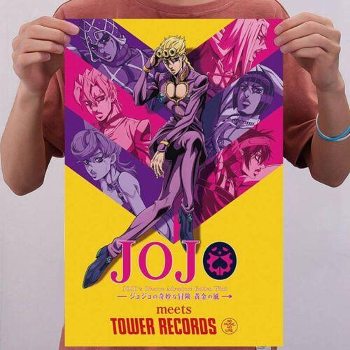 JoJo/'s Bizarre Adventure Golden Wind Giorno Giovanna Silk Poster Home Decor