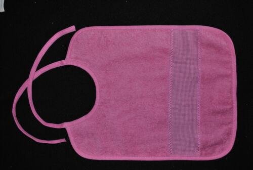 bavoir à broder bébé enfant grande taille coloris rose fuschia