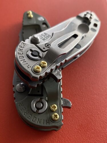 2x BRASS Phillips Screws-Replacement Pocket Clip Screws-Hinderer Compatibility