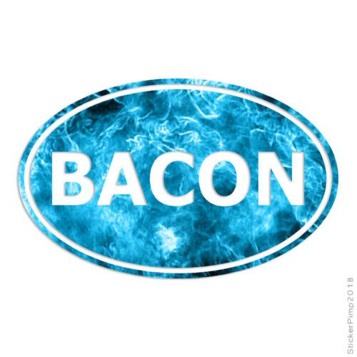 Bacon Oval Decal Sticker Choose Pattern Size #3920