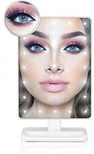 LUCE Make up Specchio, Trucco Specchio con ingrandimento rimovibile 10x specchio illuminato