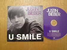 VERY RARE - Justin Bieber - U SMILE - EU 1 Track PROMO CD Single 2010