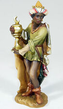 ANRI - Figur HOLZFIGUR Krippe Weihnachtskrippe CASPAR Heilige Drei Könige ITALY