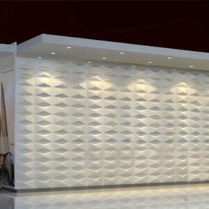 4pcs 3d Board Wall Cladding Panels Tiles Wallpaper Pvc White Home