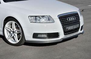 Rieger-Frontspoilerlippe-Carbon-Look-fuer-Audi-A6-4F-ab-Facelift-Limousine-Avant
