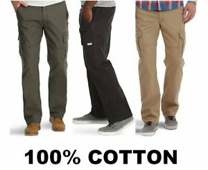 NEW-Wrangler-Men-039-s-Cargo-Pant-100-Cotton-Relaxed-Fit