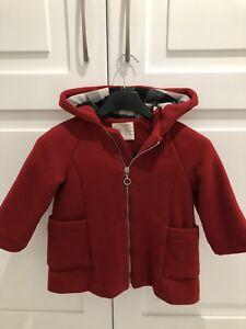 rivenditore online cadff e7936 Dettagli su Cappotto Rosso Zara Baby Bambina Tg 2-3 Anni
