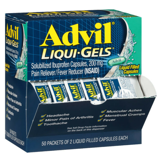 Advil Liqui-gels Pain Reliever and Fever Reducer 200mg 50 ...