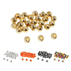 25pcs Slotted Tungsten Beads 2.8mm Heavy Nymph Bug Head Beads for Fly Tying