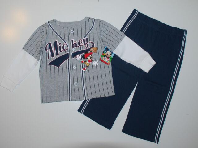 DISNEY~Jogginganzug~USA~80-86~Jacke+Hose~Babyanzug~Baseball~Amerika~Mickey Maus