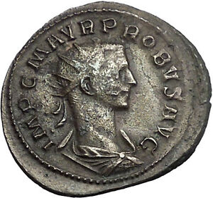 Probus-276AD-Rare-Ancient-Authentic-Roman-Coin-Mars-War-God-i55116