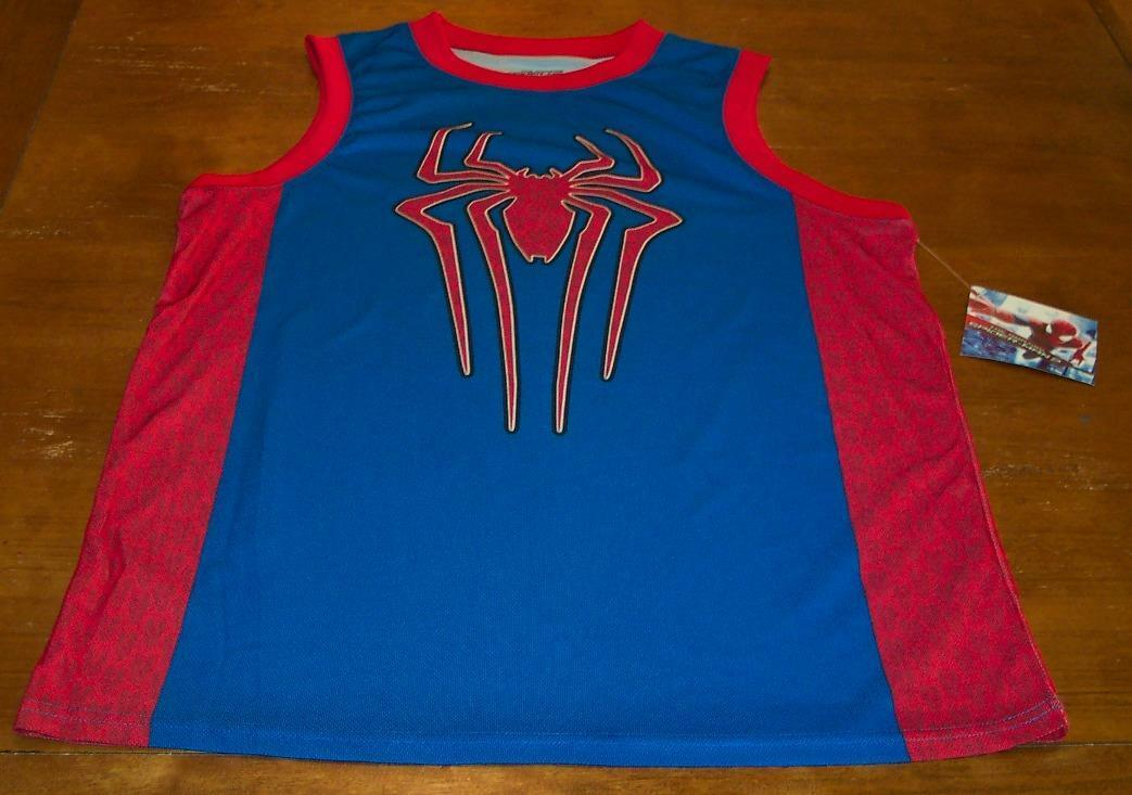 3dd4704420a THE AMAZING SPIDER-MAN MARVEL COMICS BASKETBALL JERSEY LARGE NEW W TAG