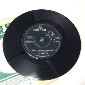 The-Beatles-039-I-Want-To-Hold-Your-Hand-039-UK-Vinyl-7-034-Single-PKT-1st-1N-1N-Rare-VG