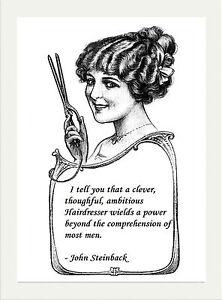 Inspirational Motivational Vintage Coiffeurs Salon Citation Poster Imprimer Ebay