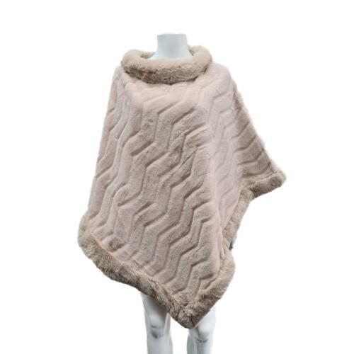 Women/'s Faux Fur Pullover Capes Coat Winter Warm Shawl Poncho Wraps Soft