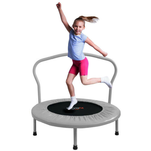ATIVAFIT 36in Folding Trampoline Mini Rebounder for Kids with safty Padded Cover